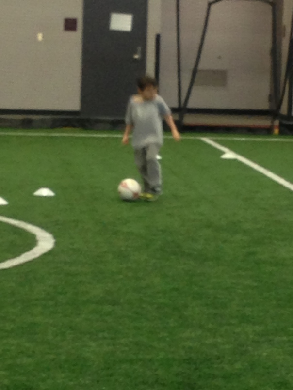 Indoor soccer...always moving too fast for a clear shot!