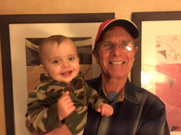 Grampa Gary finally met Skye!
