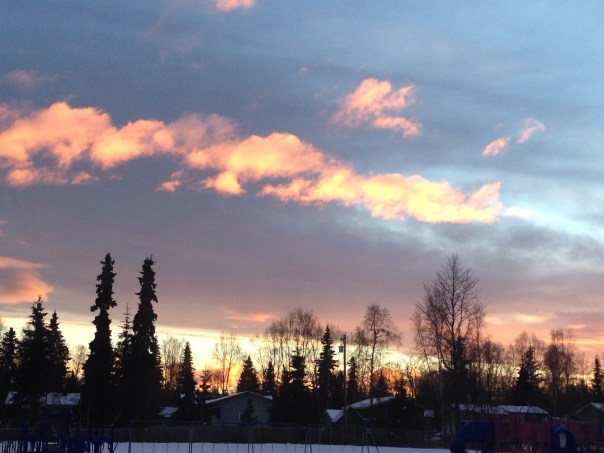 Last 4pm sunset in AK before we left for CA.